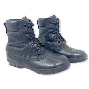 Sorel Boot Duck Rain Snow Ankle Leather Black  7